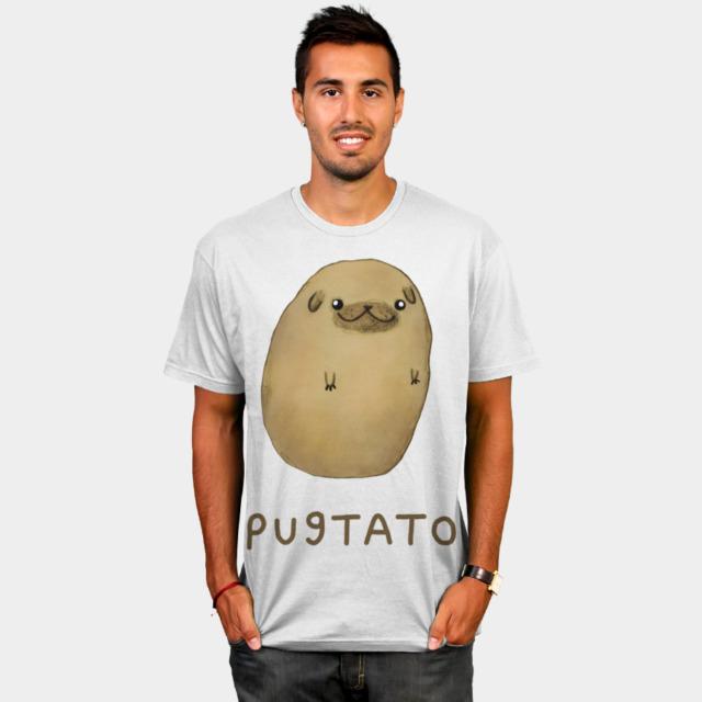 Pugtato T-shirt Design by SophieCorrigan man