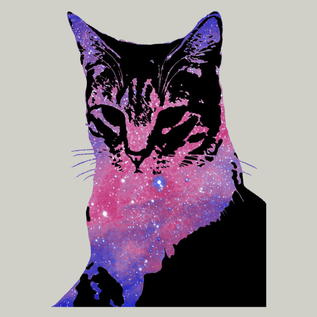 Space Cat T-shirt Design by blindmelon design