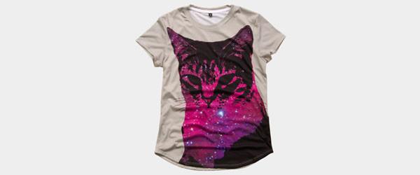 Space Cat T-shirt Design by blindmelon main