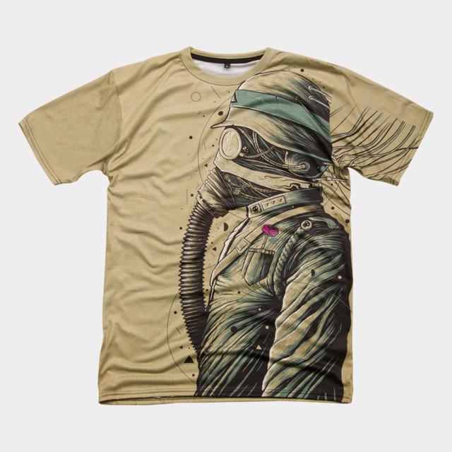 The Dark Officer T-shirt Design by roncabardz man