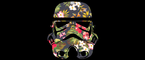 Tropical Stormtrooper T-shirt Design by  StarWars man main