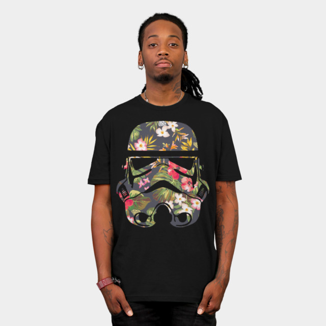 Tropical Stormtrooper T-shirt Design by  StarWars man tee