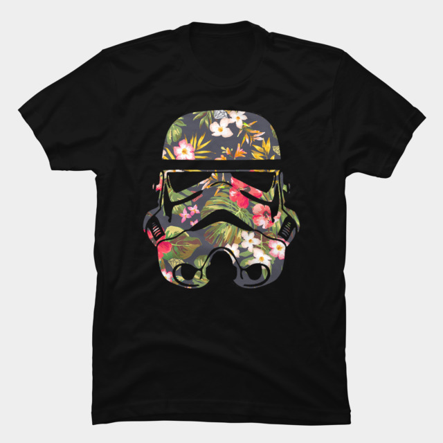 Tropical Stormtrooper T-shirt Design by StarWars man