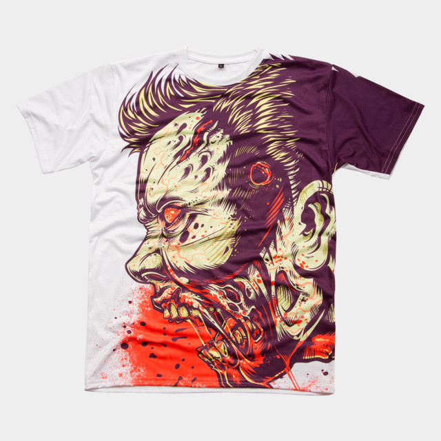 ZOMBIE FRENZY! T-shirt Design by MR-NICOLO man
