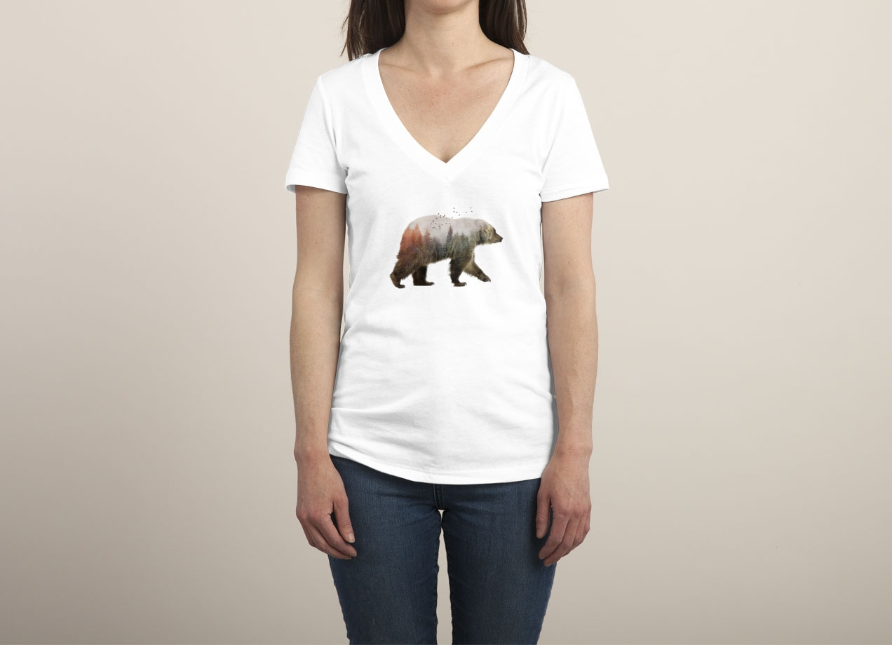 BEAR T-shirt Design by Sokol woman