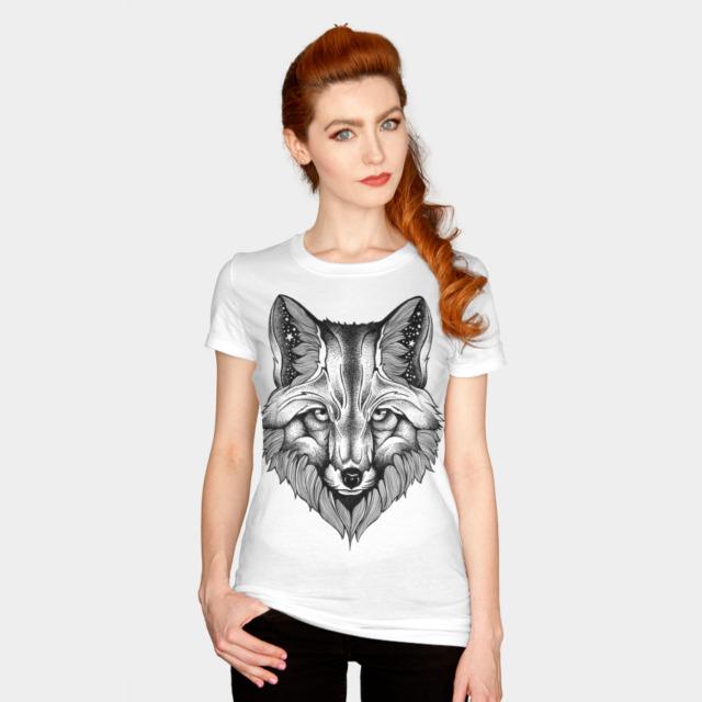 FOX T-shirt Design by thiagobianchini woman