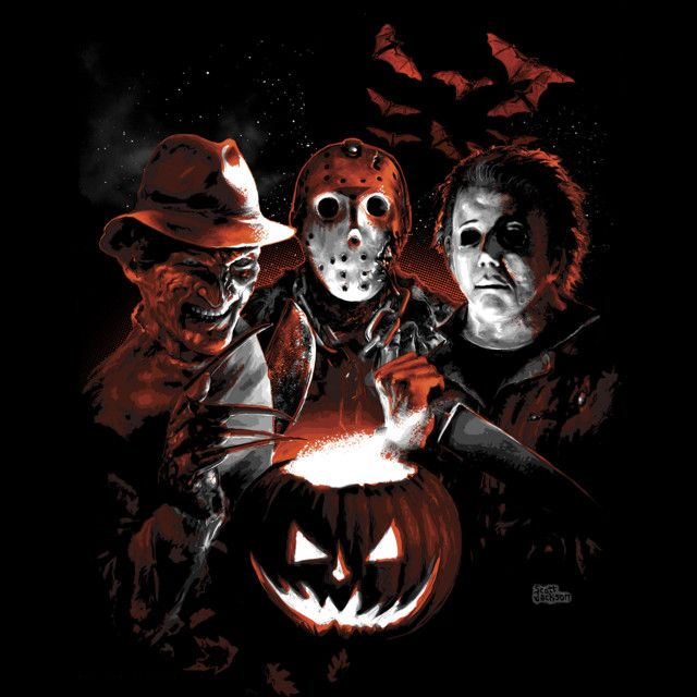 Halloween Scream Team T-shirt Design by Scott Jackson a.k.a. monstermangraphic design 1