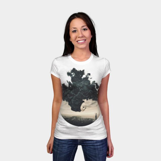 The Selfie T-shirt Design by barrettbiggers man