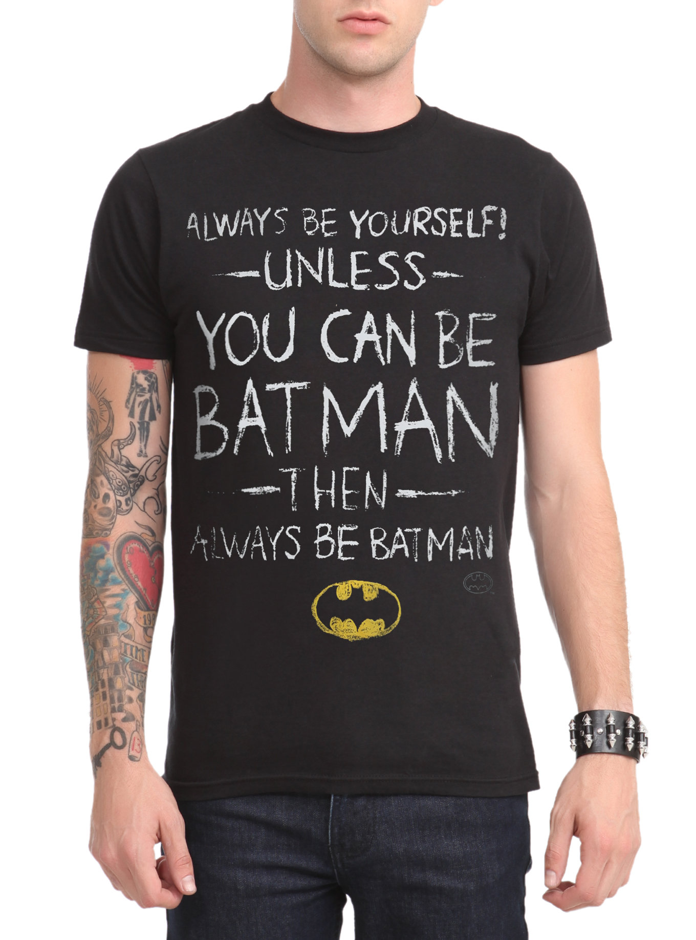 Dc comics batman be yourself fancy tshirts dc comics batman be yourself t shirt design solutioingenieria Image collections