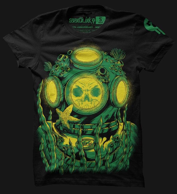 ninth-anniversary-diver-t-shirt-design