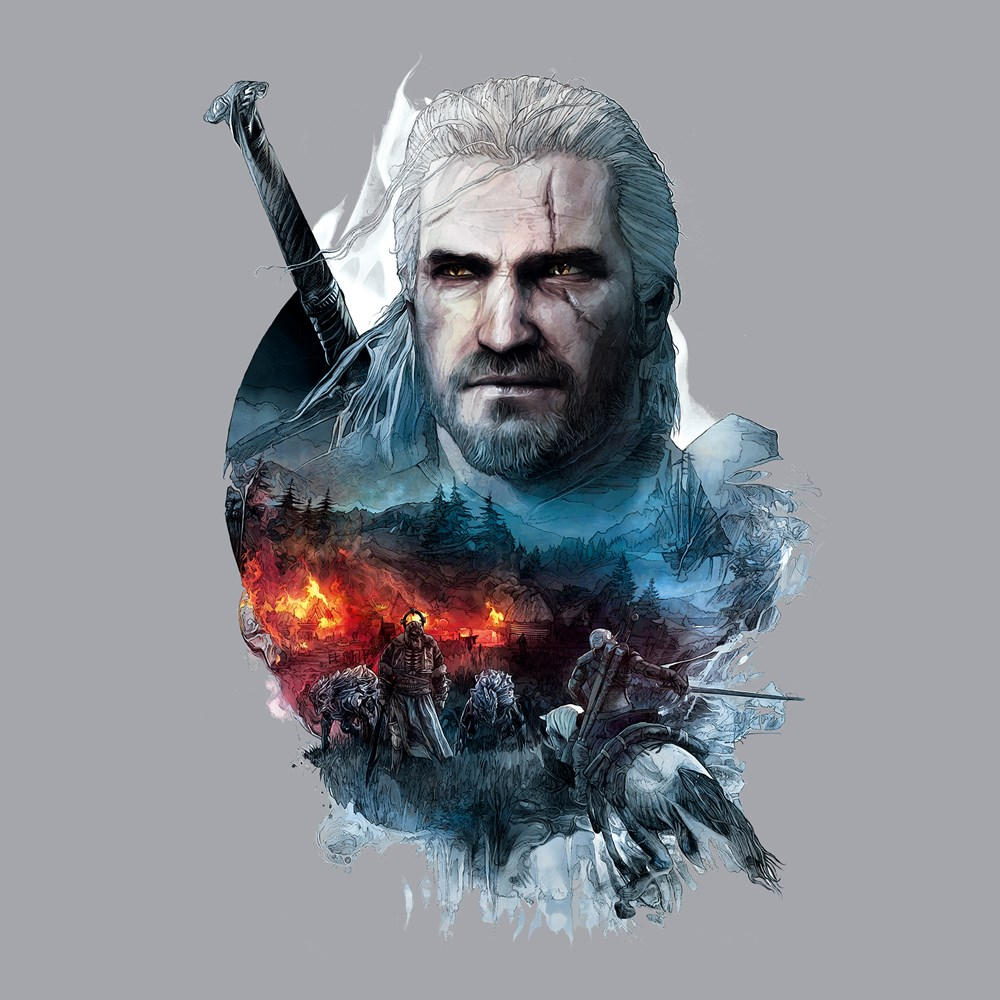 the-witcher-3-into-the-fire-t-shirt-design-design
