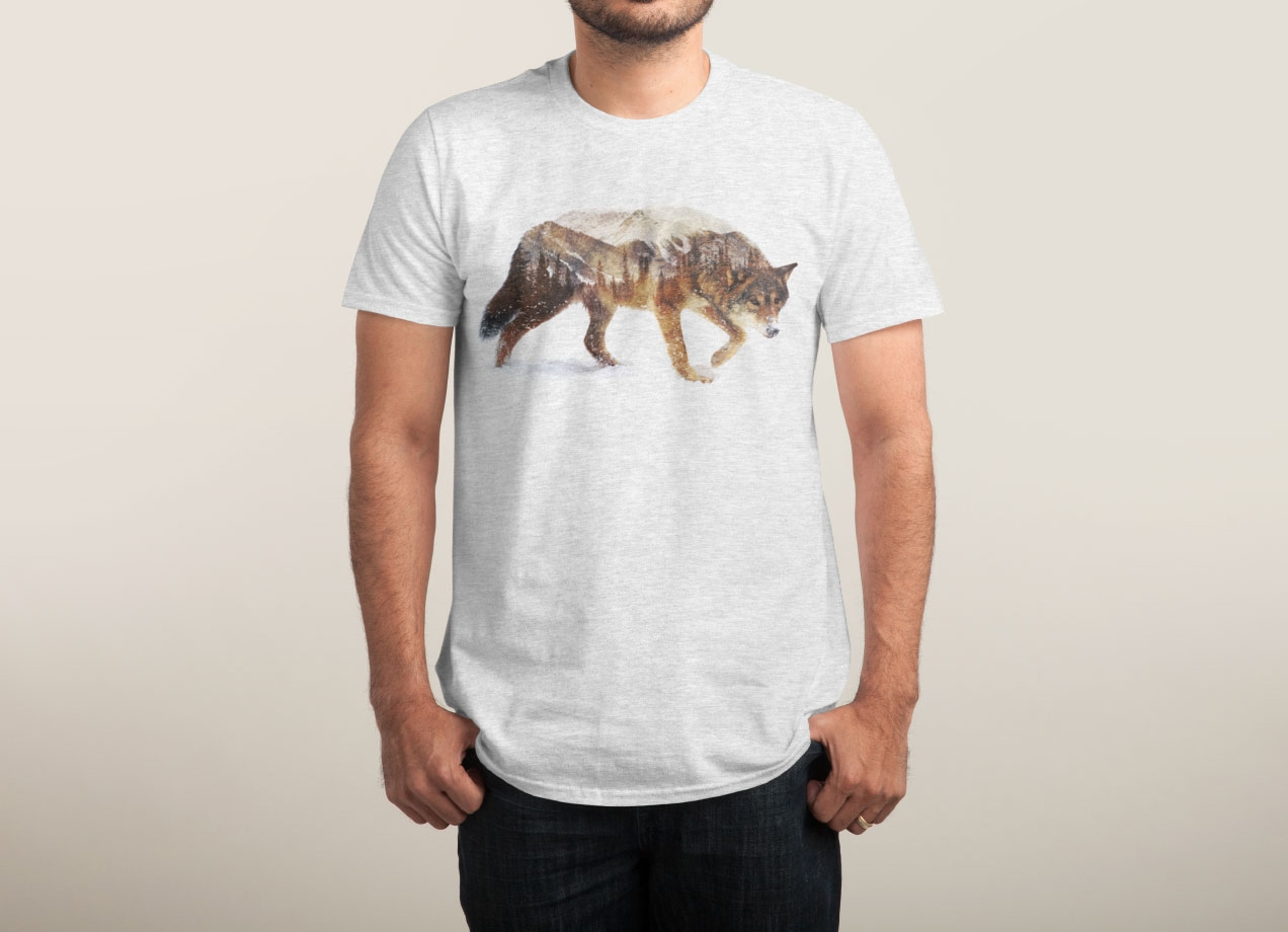 wolf-in-the-arctic-t-shirt-design-by-andreas-lie-man