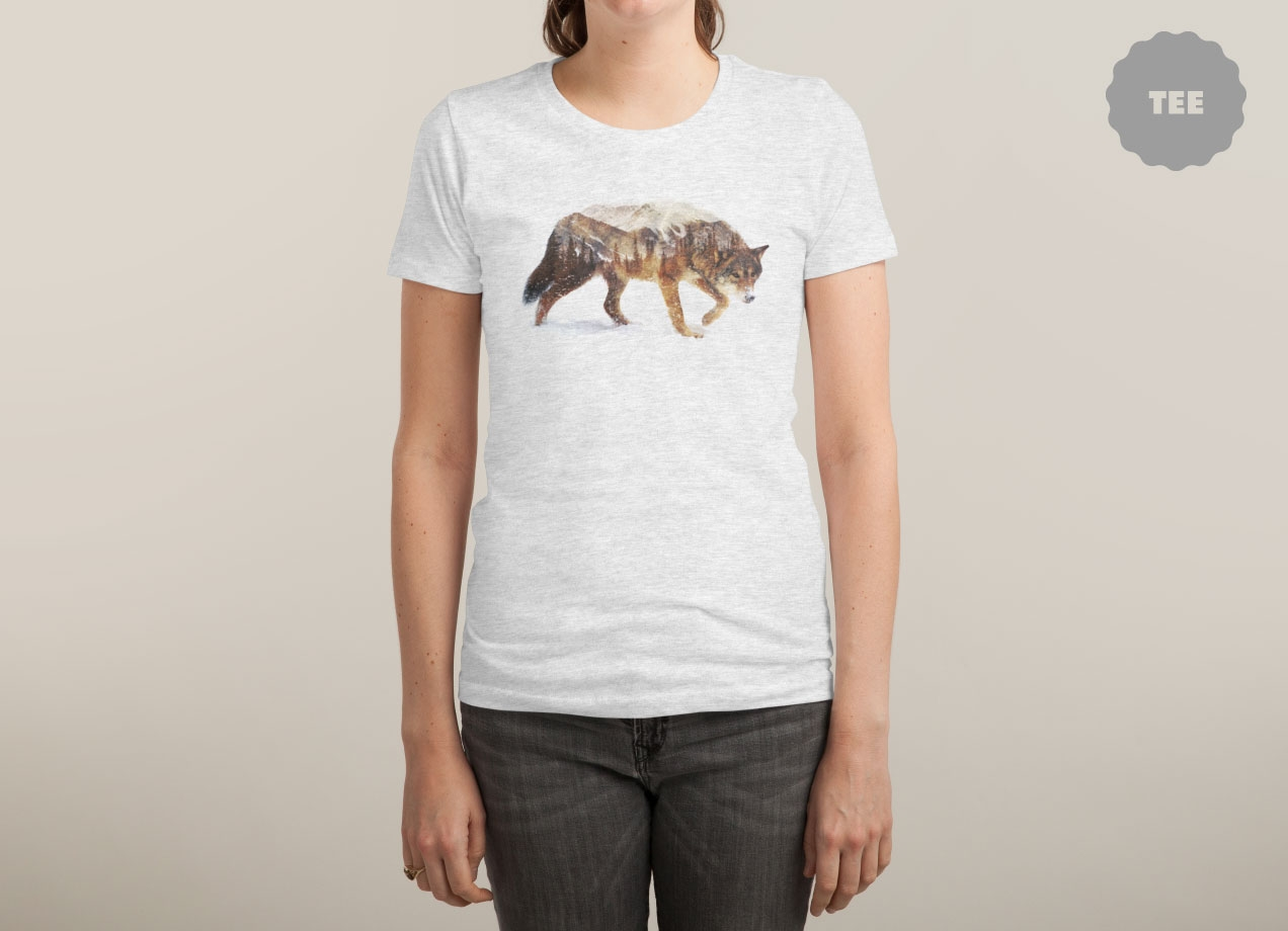 wolf-in-the-arctic-t-shirt-design-by-andreas-lie-woman