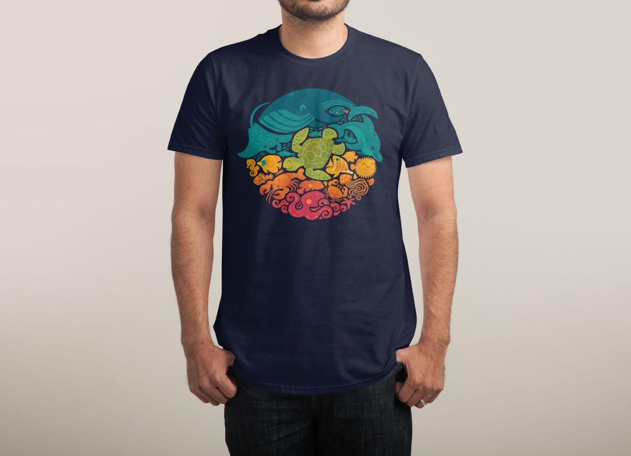 aquatic-rainbow-t-shirt-design-by-waynem