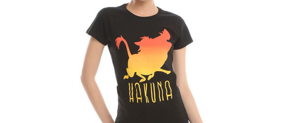 DISNEY THE LION KING HAKUNA SILHOUETTE GIRLS T-SHIR main