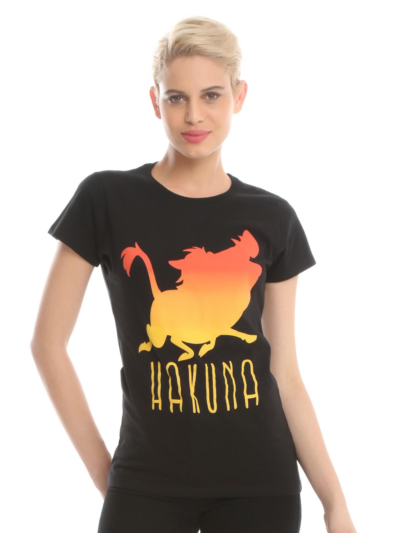 DISNEY THE LION KING HAKUNA SILHOUETTE GIRLS T-SHIR tee