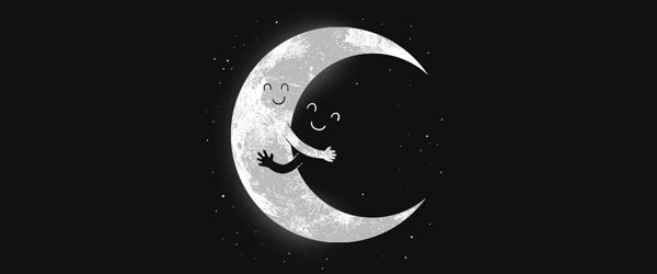 MOON HUG T-shirt Design by R.Gegen Noviara main