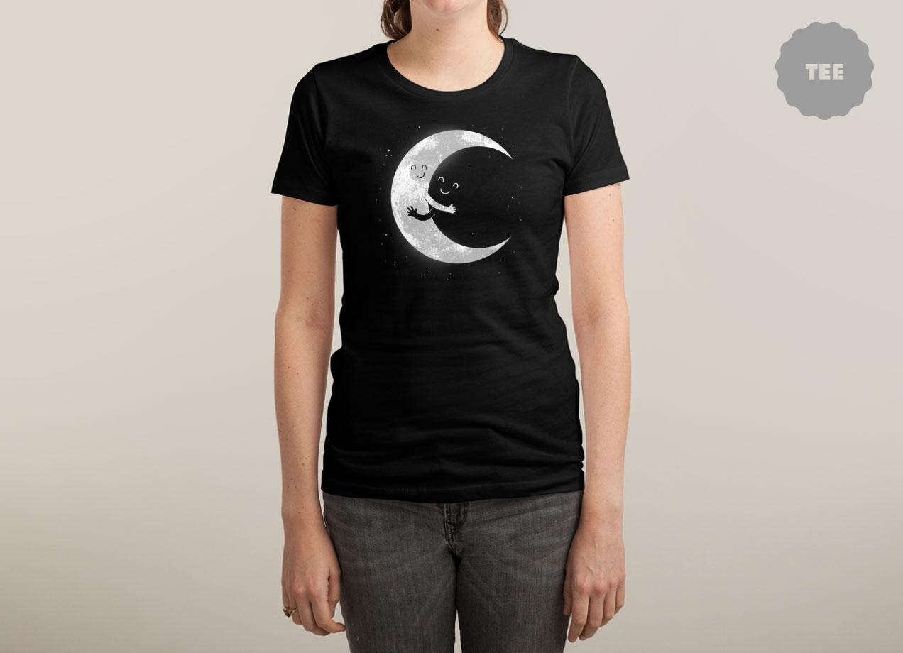 MOON HUG T-shirt Design by R.Gegen Noviara woman