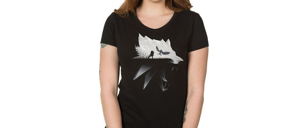 The Witcher 3 Wolf Silhouette Women's Tee main design