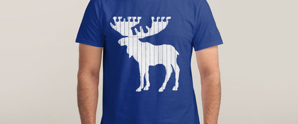 MOOSE LEAF T-shirt Design by Jason McDade main