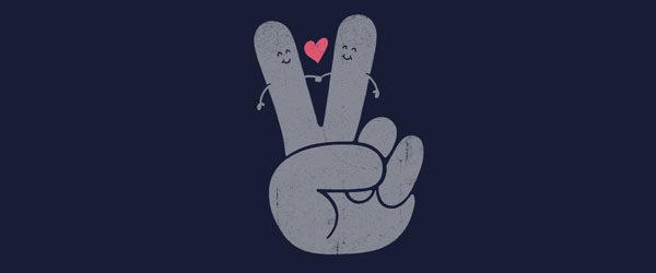 PEACE & LOVE T-shirt Design by Jorge Lopez Ramirez main
