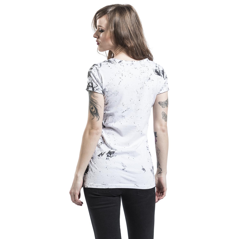 Skeleton Lovers T-shirt Design woman back