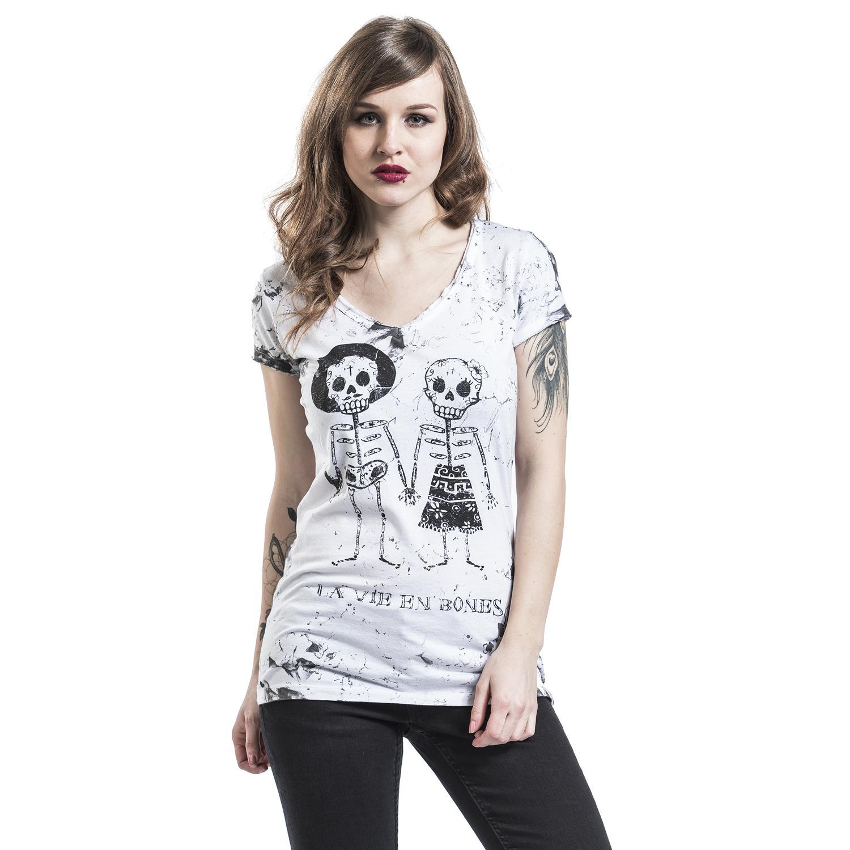 Skeleton Lovers T-shirt Design woman