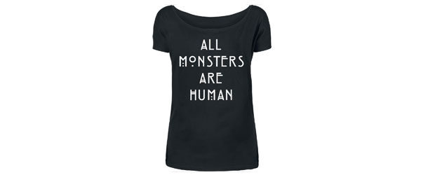 All Monsters Are Human T-shirt Design main