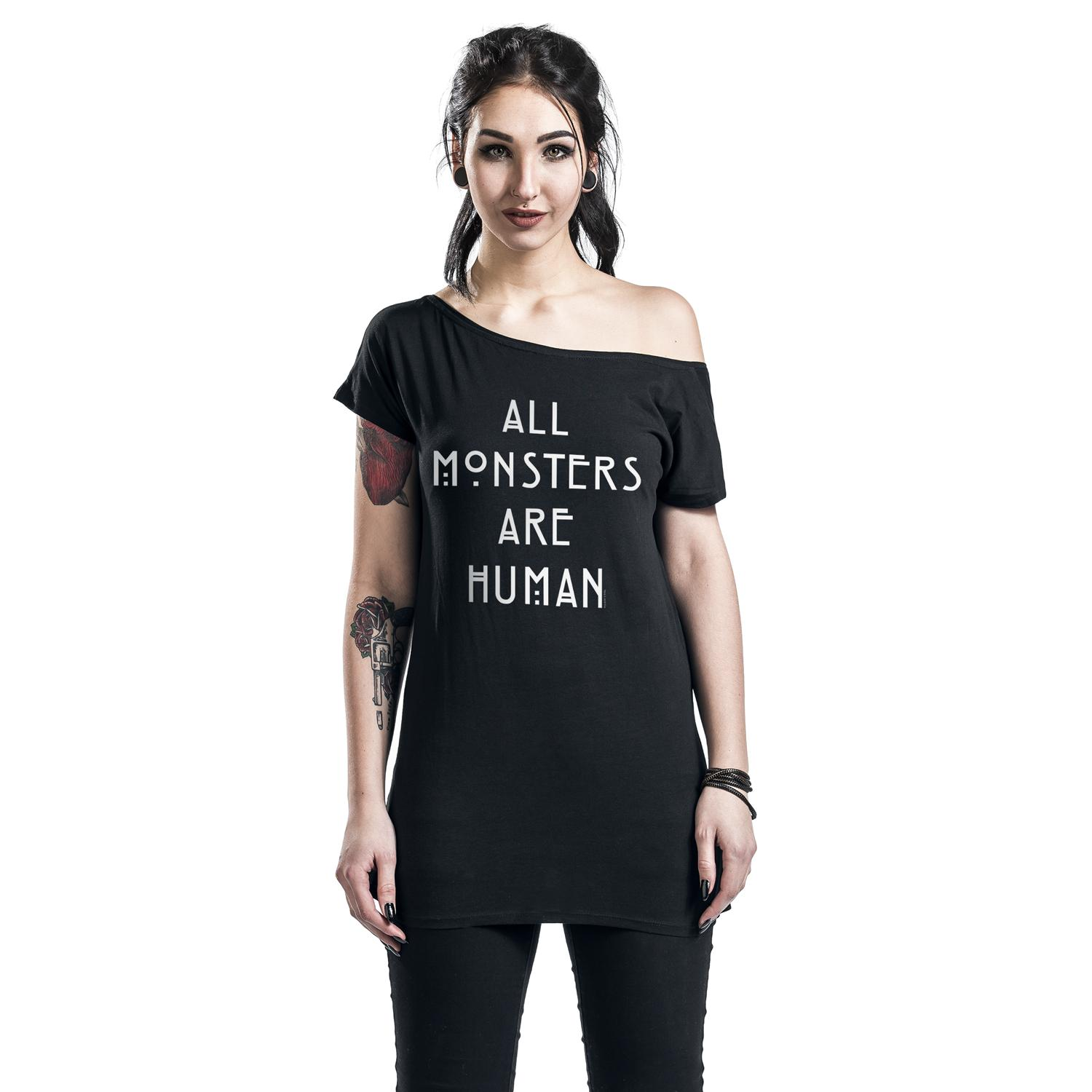 All Monsters Are Human T-shirt Design woman