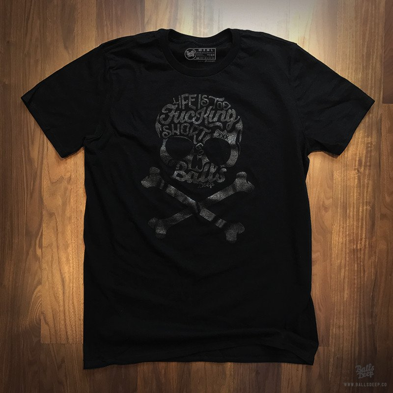 BALLS DEEP SKULL T-SHIRT T-shirt Design black