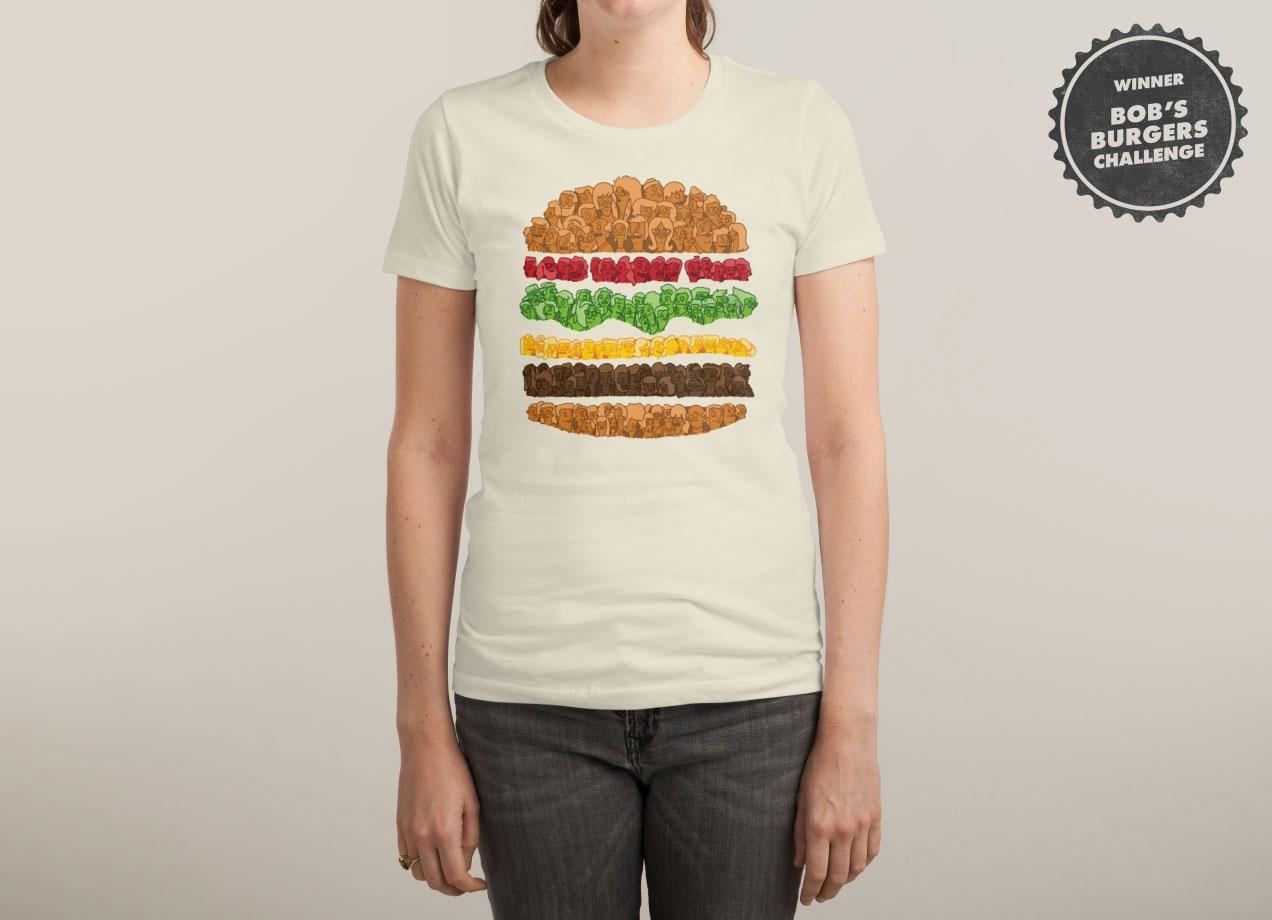 BOB'S BURGERS T-shirt Design by Simon Carpenter woman
