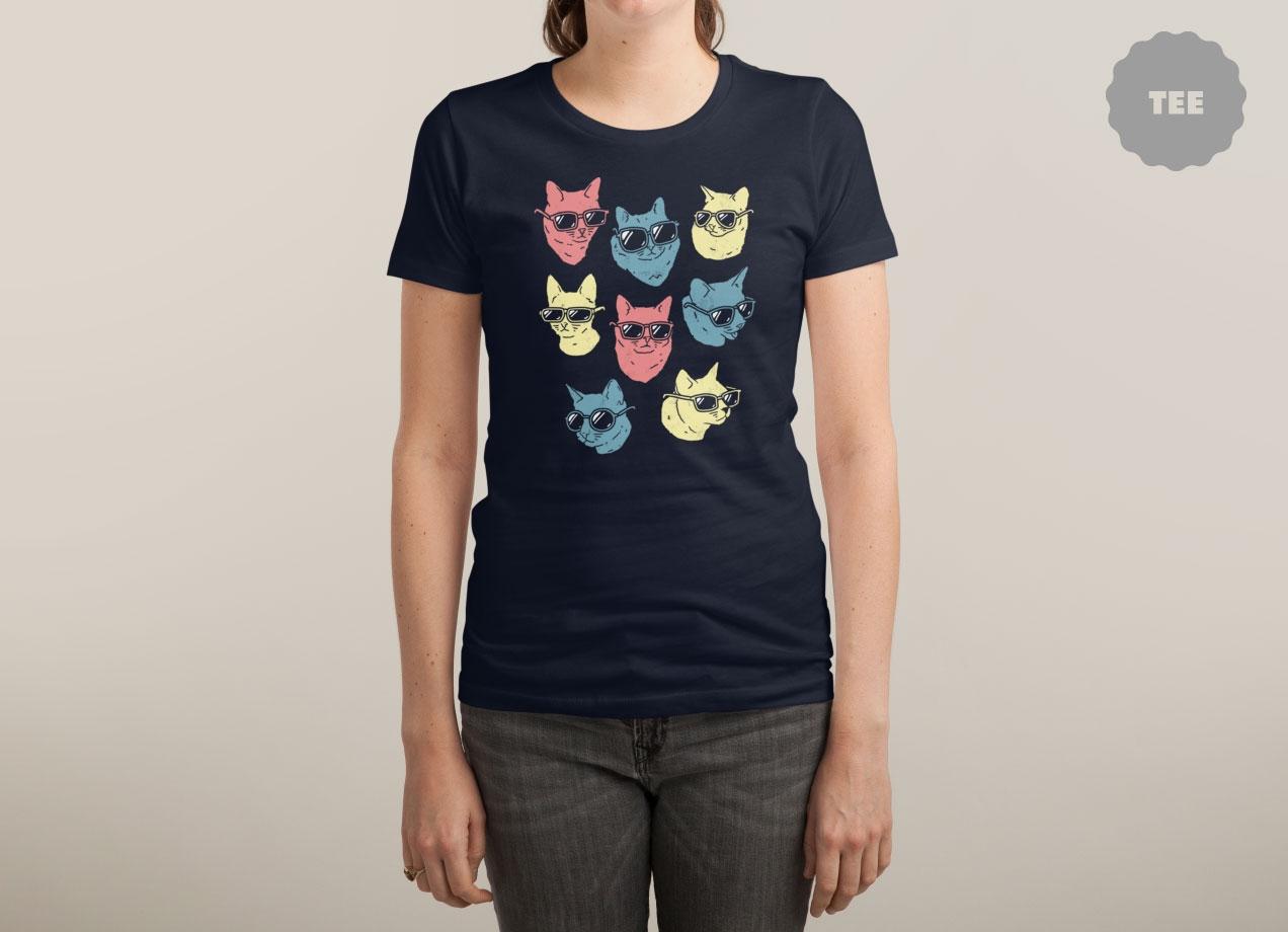 COOL CATS T-shirt Design by Ronan Lynam woman