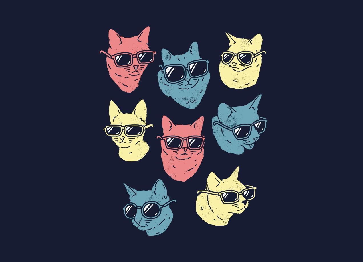 COOL CATS T-shirt Design by Ronan Lynam