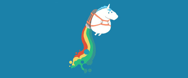 FAT UNICORN ON RAINBOW JETPACK T-shirt Design by radiomode main