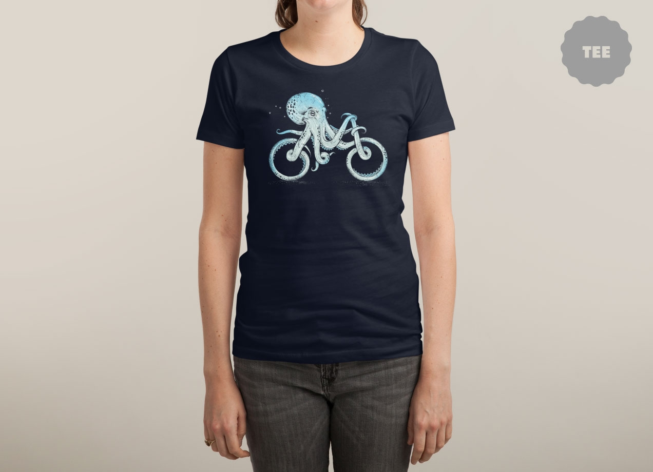 OCTOPUS BIKE T-shirt Design by Alan Maia woman