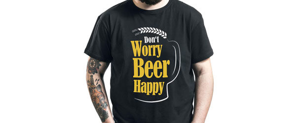 Don't Worry Beer Happy T-shirt Design main