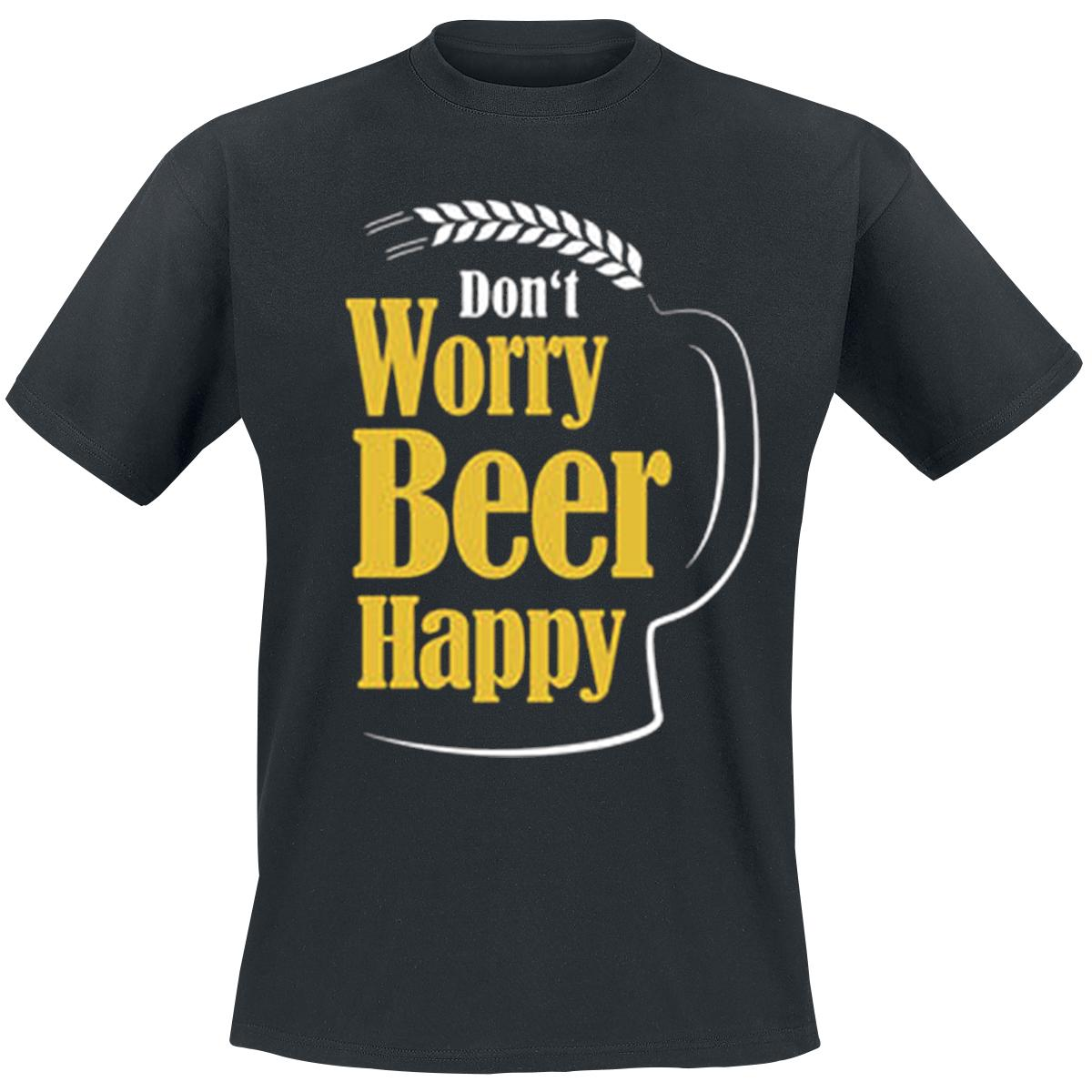 Don't Worry Beer Happy T-shirt Design