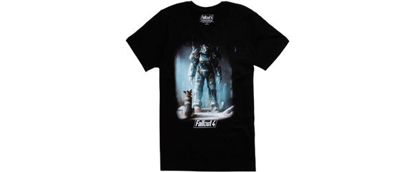 FALLOUT 4 POWER ARMOR & DOGMEAT T-SHIRT Design tee main