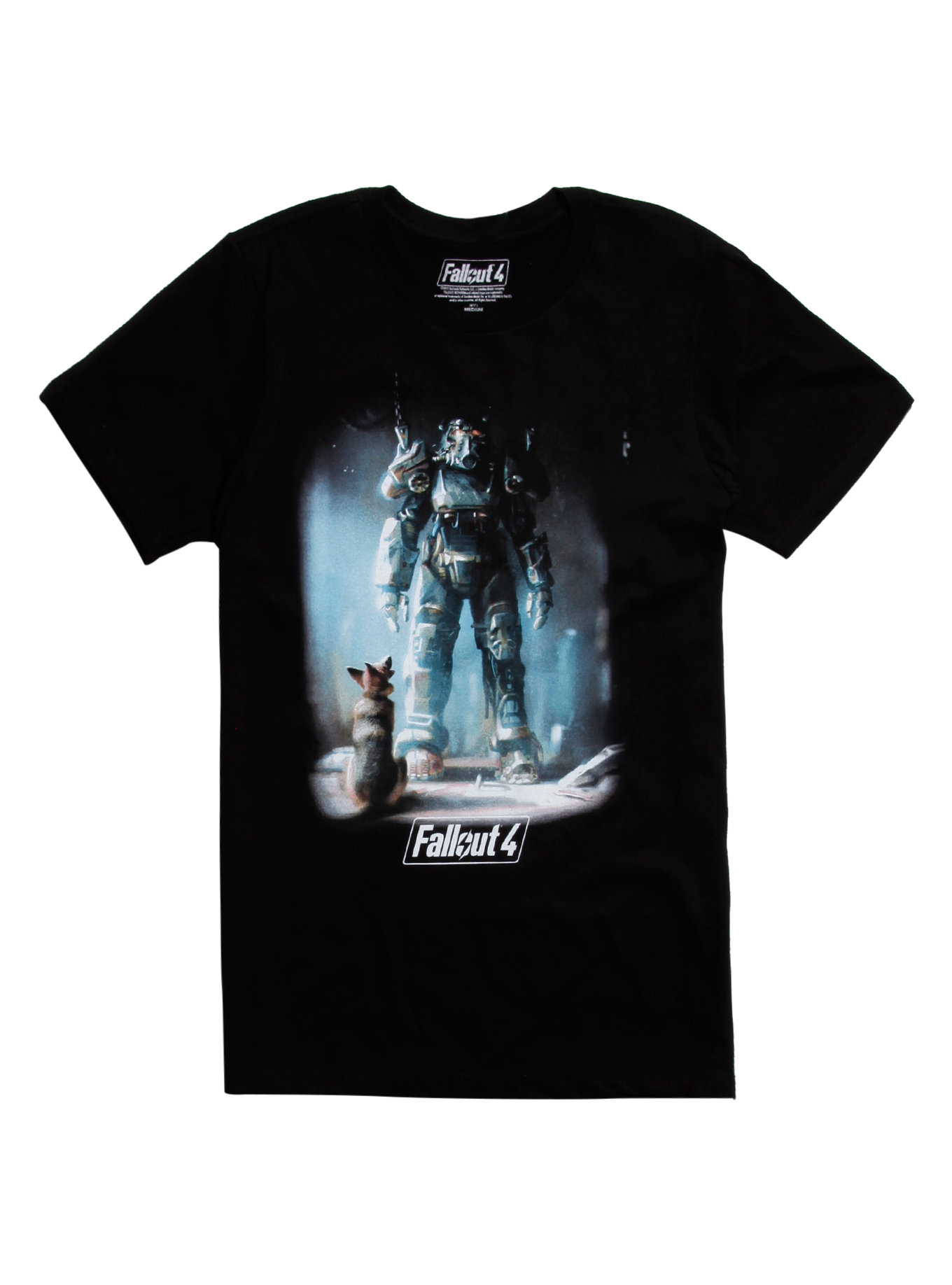 FALLOUT 4 POWER ARMOR & DOGMEAT T-SHIRT Design tee