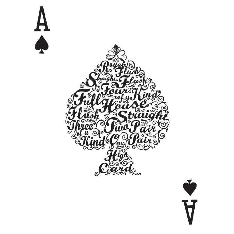 POKER HAND VALUES T-shirt Design by Tan Nuyen design
