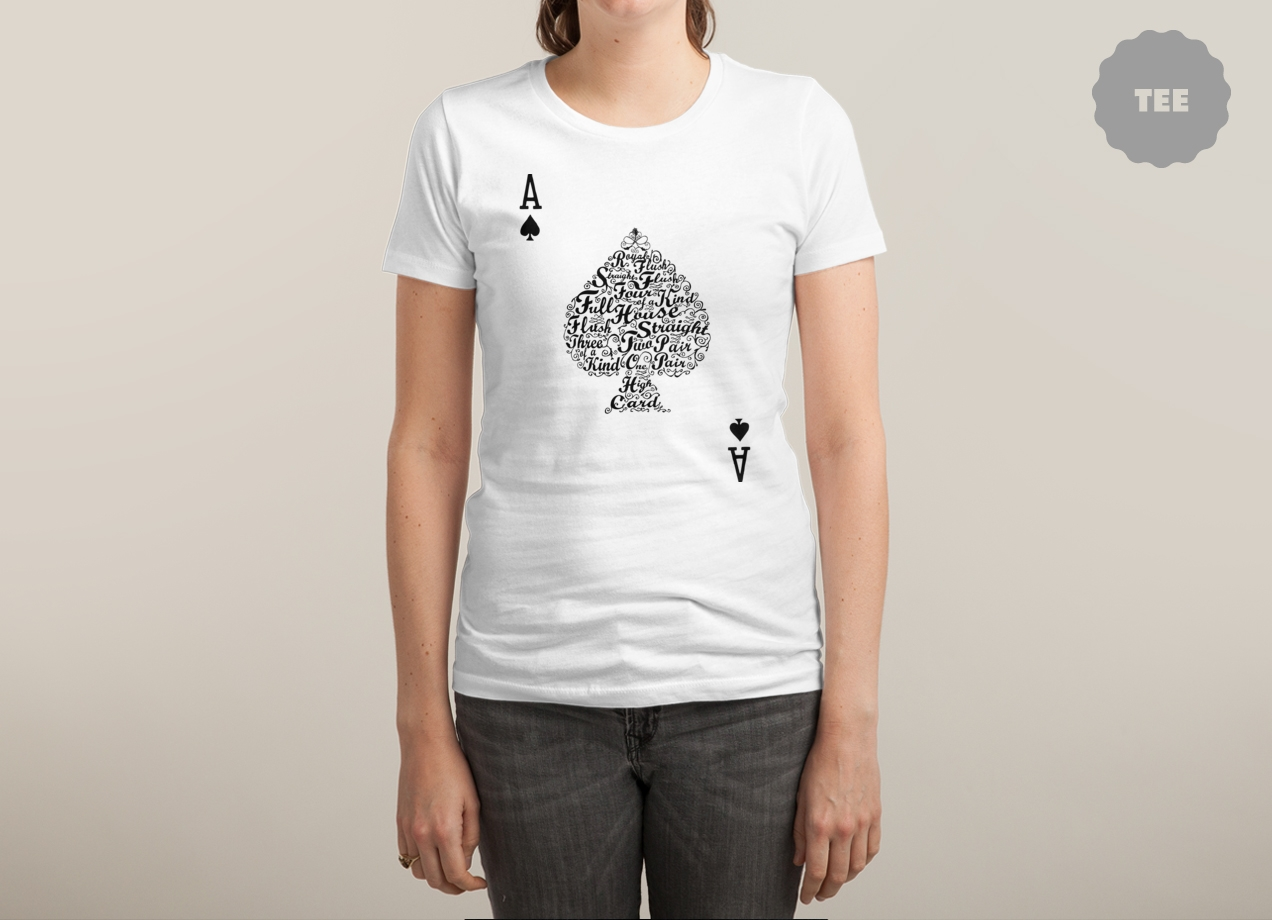 POKER HAND VALUES T-shirt Design by Tan Nuyen woman