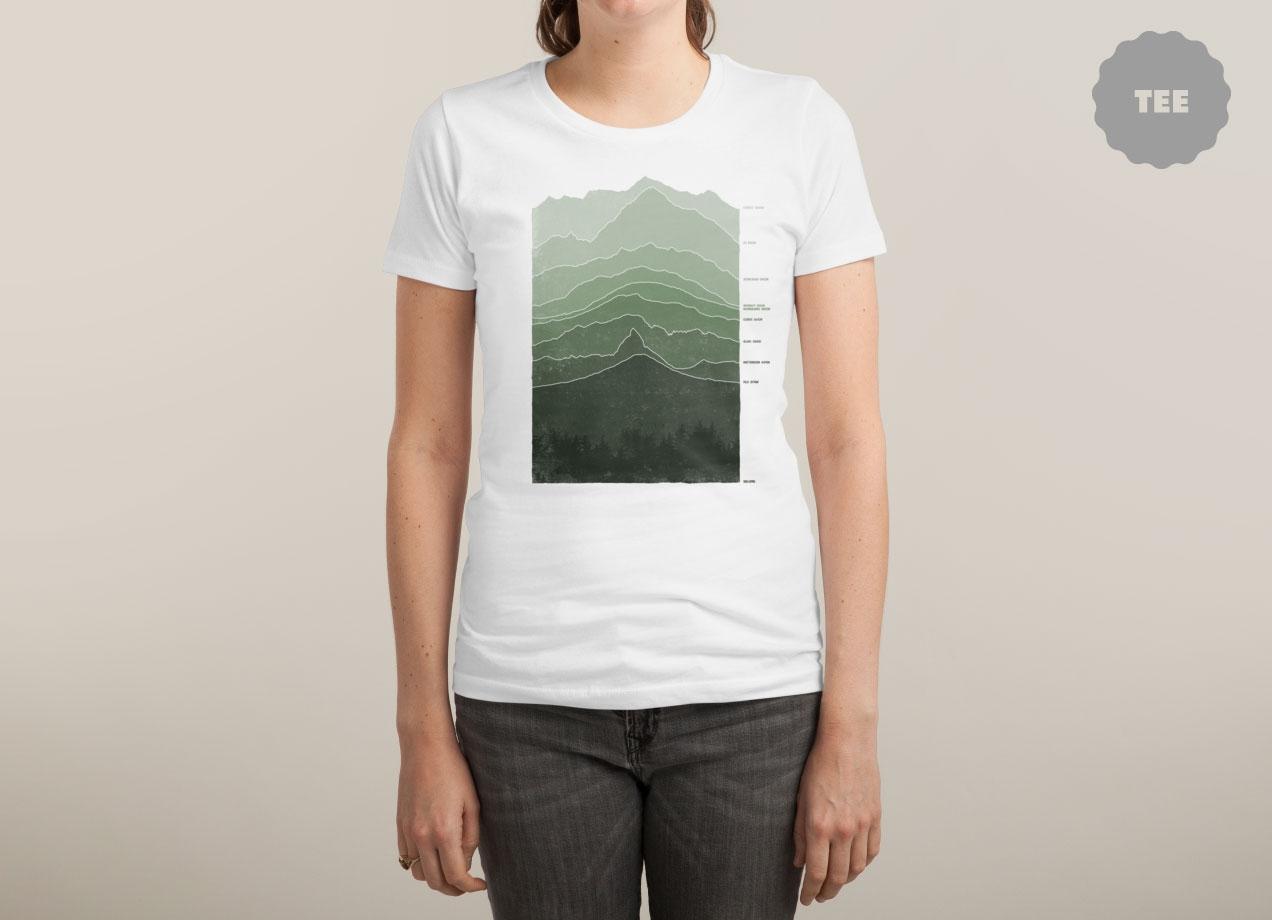 ABOVE SEA LEVEL T-shirt Design by Ross Zietz woman tee