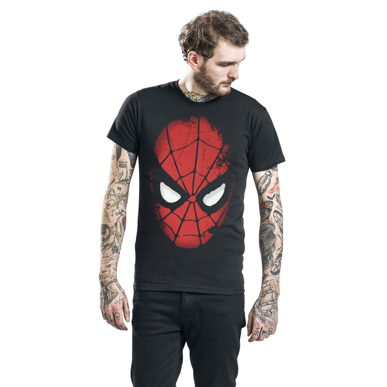 Big Face Spider Man T-shirt Design T-shirt