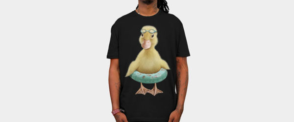 DUCK T-shirt Design by ADAMLAWLESS main design
