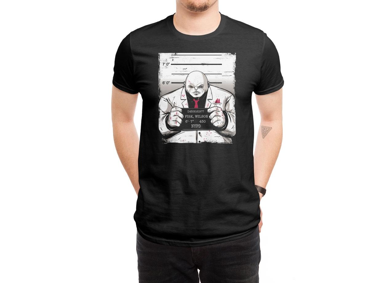 KINGPIN MUGSHOT T-shirt Design man