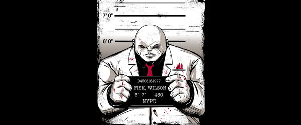 KINGPIN MUGSHOT T-shirt Design tee main