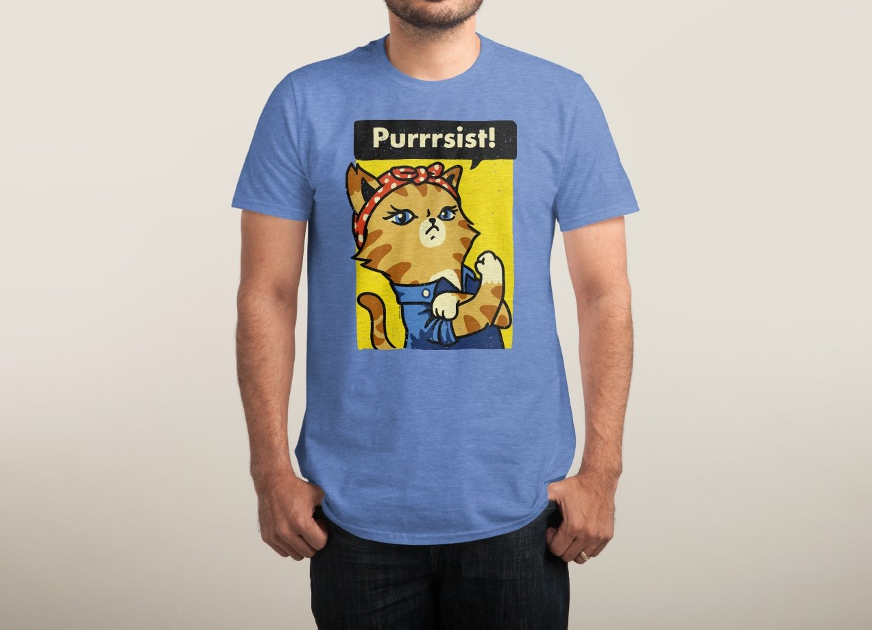 PURRRSIST! T-shirt Design man