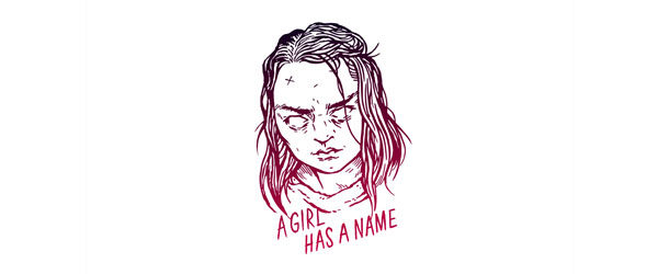 A GIRL HAS A NAME T-shirt Design main image