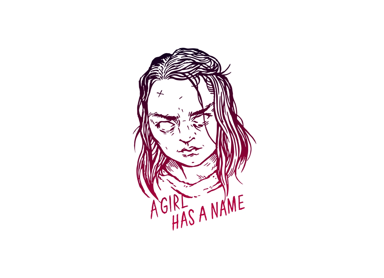 A GIRL HAS A NAME T-shirt Design man