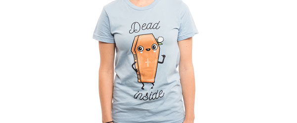 DEAD INSIDE T-shirt Design woman main